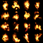 Additive Fire Atlas - Used In 3D Particles